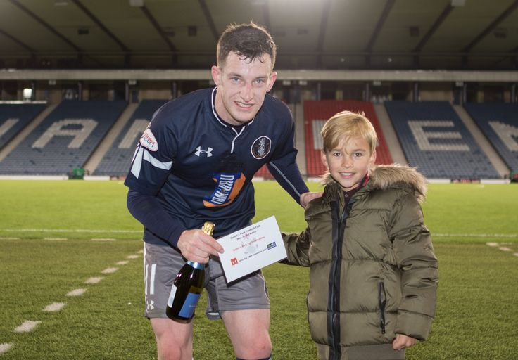 Queen's Park's David Galt Man of the Match after the Scottish Cup 3rd round game between Queen's Park and Dunfermline Athletic