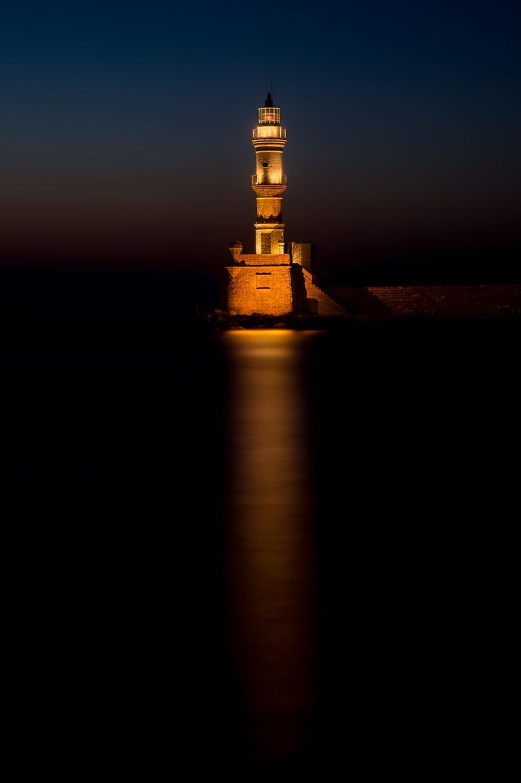 #Lighthouse Of Chania | Crete | #Greece | Photo By Jens Davidsen http://www.roanokemyhomesweethome.com