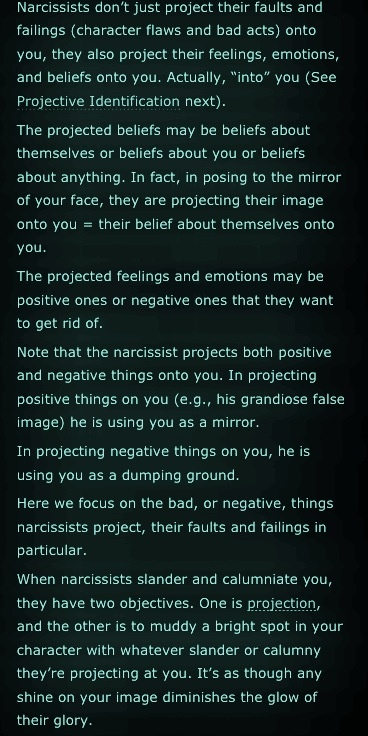 narcissistic projection In this research we focused on narcissism as a personality trait,  areas,  projection unwanted or unacceptable aspects, reaction formation, and.