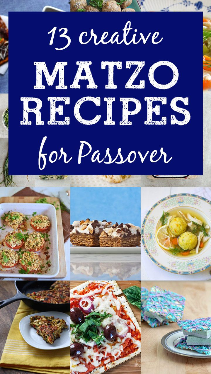 13 Creative Matzo Recipes for #Passover - use matzo in ways that you never would have thought of!