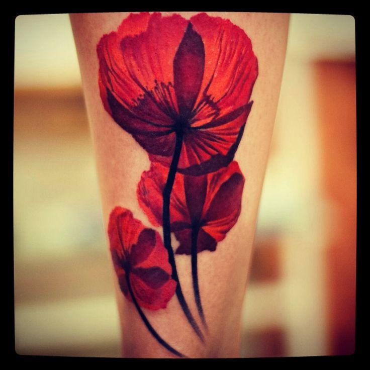 Klaproos tattoeage