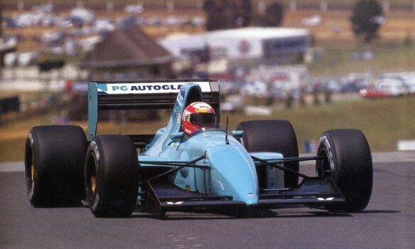 March CG911-Ilmor, the last March design to race in F1: Here driven by pay driver extraordinaire, Paul Belmondo at the 1992 South African GP