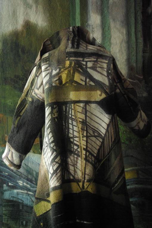 Manteau en feutre hybride  Françoise Hoffmann