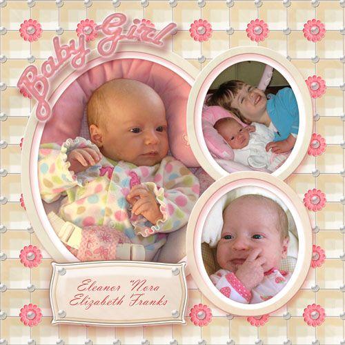 scrapbooking new born ideas | Scrapbook Templates for Newborns & Babies…