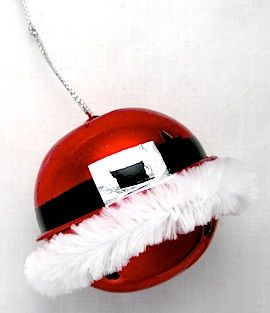 santa-bell-ornament, so easy and makes me smile