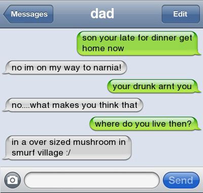 Below is a collection of some of the funniest text messages ever sent. Description from tyyeahisaidit.blogspot.com. I searched for this on bing.com/images