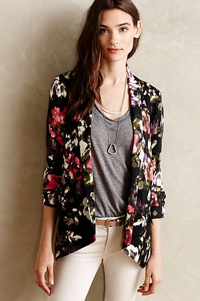 Floral blazer - Anthropologie SALE #anthrofave