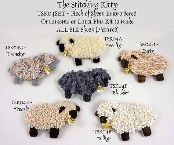 Curly Counting Sheep Lamb Embroidery Patch