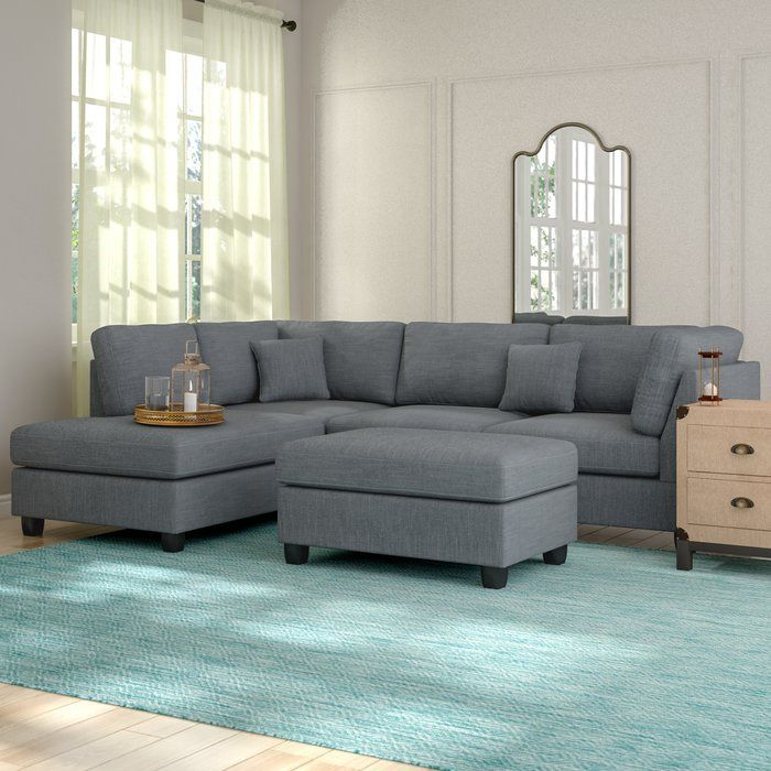 Hemphill Reversible Sectional With Ottoman Furniture Living
