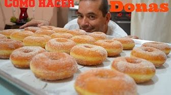 Como hacer donas caseras, facil y divertido!! How to make easy homemade donuts…