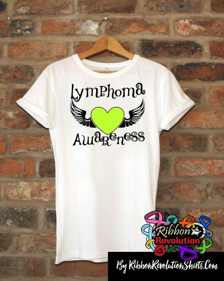 Lymphoma Awareness Heart Tattoo Wing Shirts