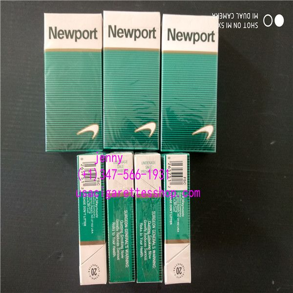 We are the general cigarette producer here in china, we have a professional factory which have the latest technology and facilities, factory directly supply with shipping included, 7-8 business days via ems, and door to door delivery. They made with original material, from the pack to the taste are the same as the original ones.  Details: 1.Newport Cigarettes Box 100s(Menthol) 2.Each carton contains 10 packs of 20 cigarettes 3.Tar C10 mg;Nicotine C0.9 mg
