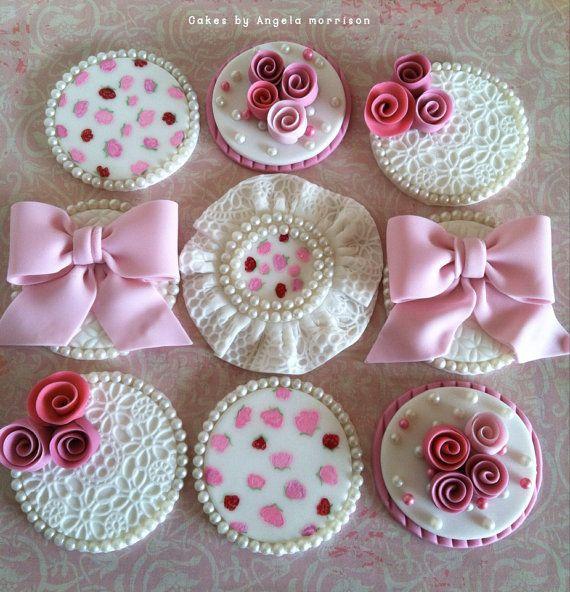 Vintage cupcake toppers | By CakesbyAngela via Etsy