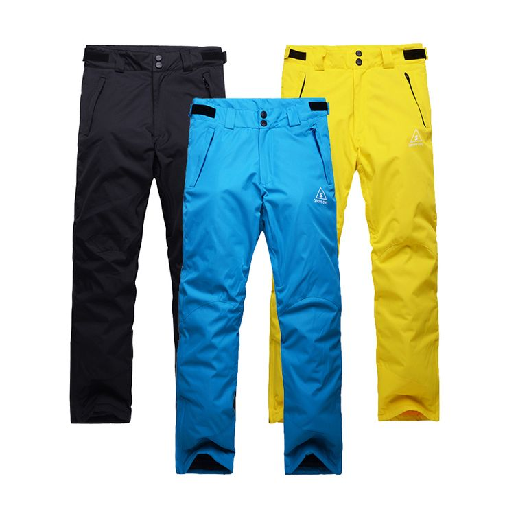 Free Shipping Outdoor Snowboarding snow  Sport Windproof Waterproof Breathable Double Layer Winter Ski Snow Pants For Man skiing