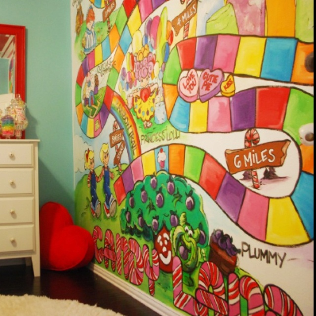 113 best a birthday candyland images on pinterest candy for Candyland bedroom ideas