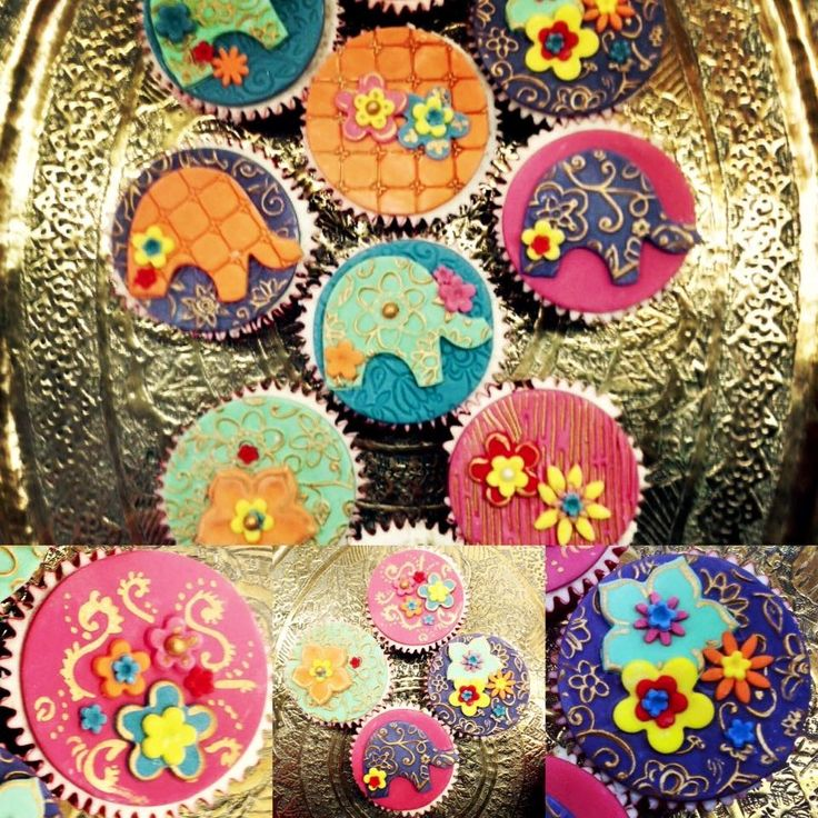 Oriental cupcake toppers