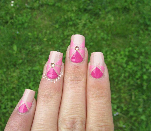 Mejores 12 imágenes de Striped nails en Pinterest | Uñas de rayas ...