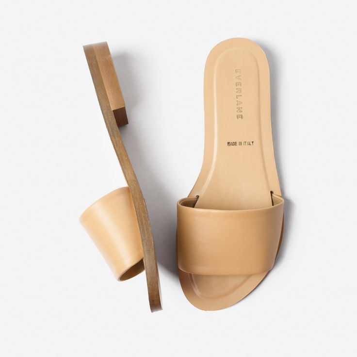 The Slide Sandal in Sand | Everlane