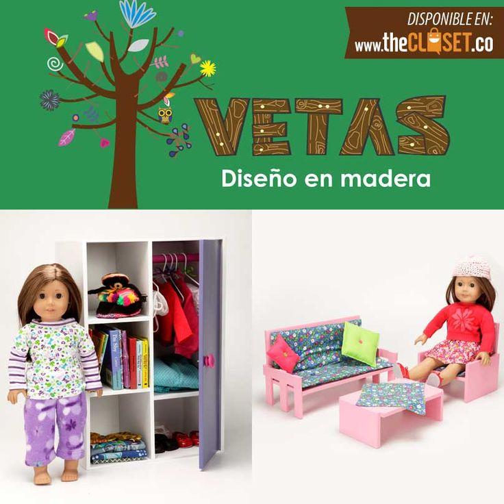 Vetas, diseño en madera. Armario, sala o cama para muñecas en madera. más info: www.thecloset.co
