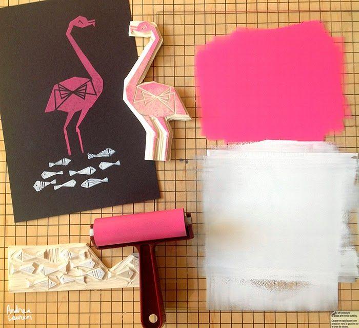 アンドレア·ローレンによる鳥版画スタンプ