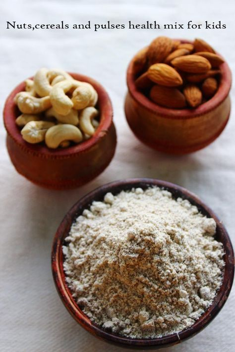 It is very important to give Protein rich food for growing children.I prepared this health mix powder recipe using Nuts,cereals and pulses. This powder is a