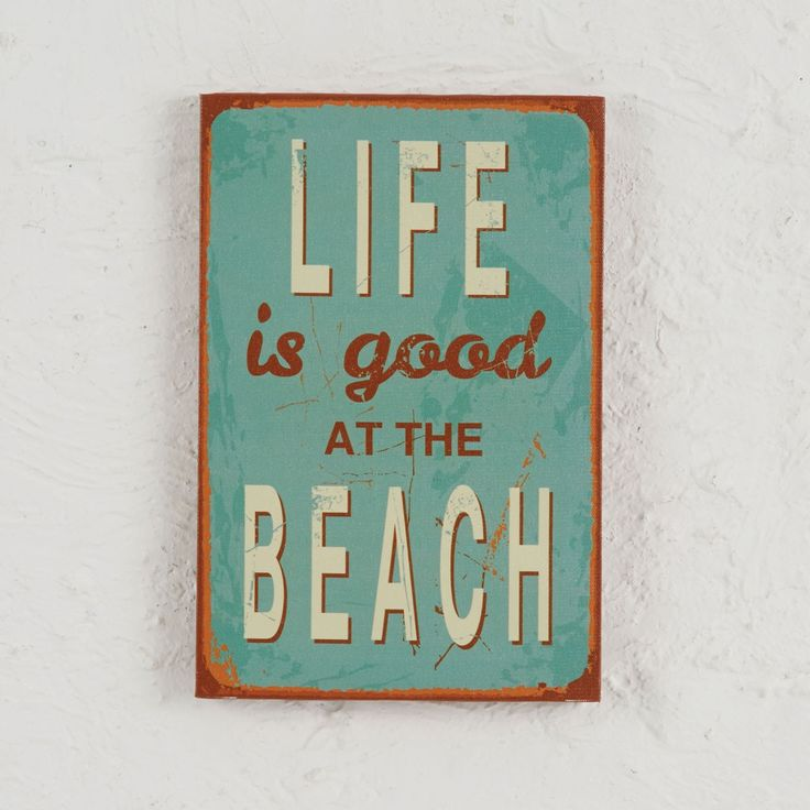 CANVAS WALL ART LIFE IS GOOD  - BLUE