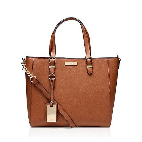 Carvela Brown 'Dina' Winged Tote bag with shoulder strap   Debenhams