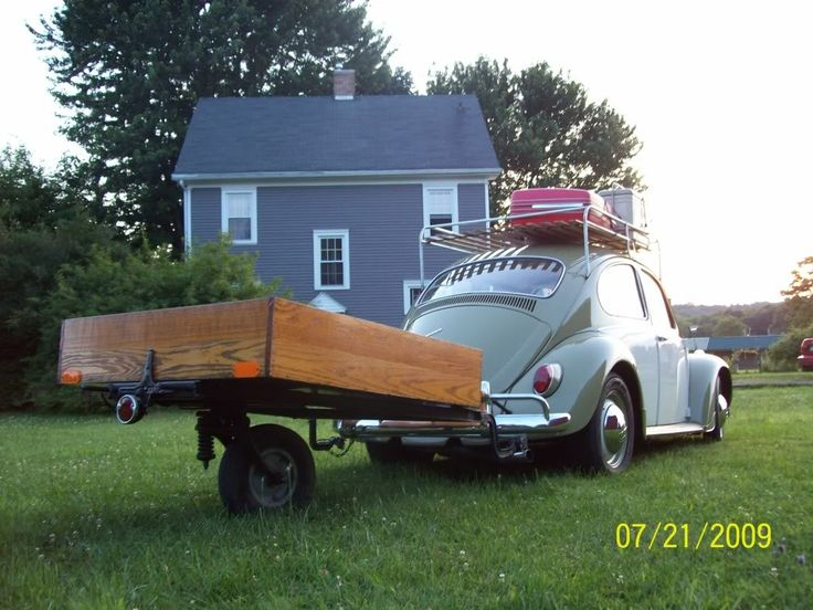 67 Bug With Single Wheel Trailer Vw S Pinterest