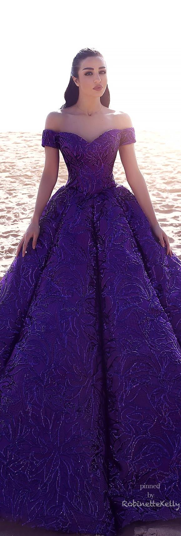 Beautiful Purple Gown | Organza Al Ahmar