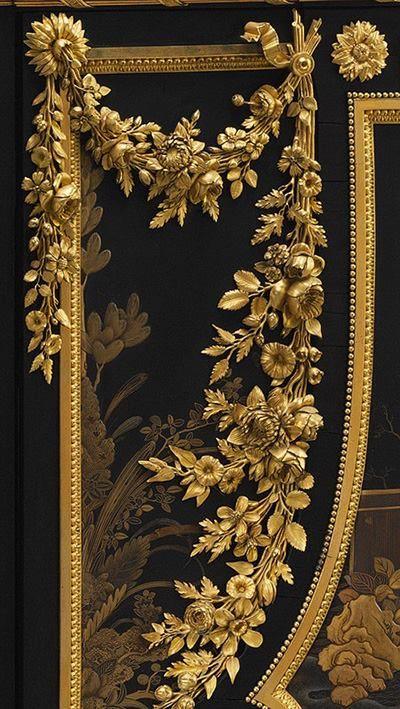 Antique Louis XVI Secretary detail- Tuba TANIK