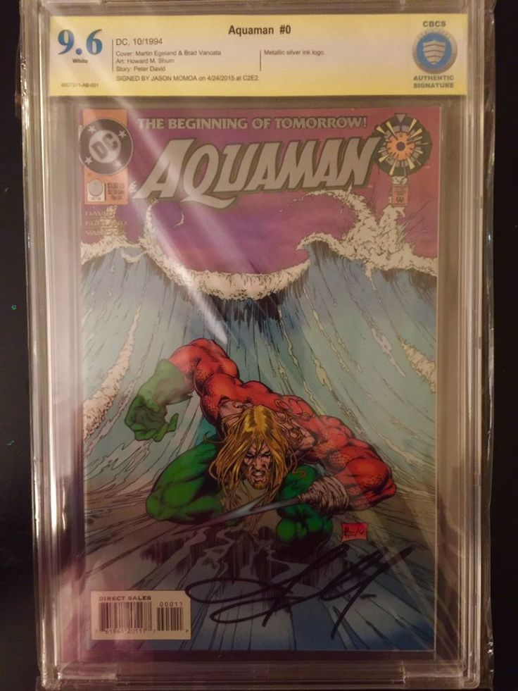 Aquaman #0 CBCS 9.6 signed by New Aquaman Actor Jason Momoa