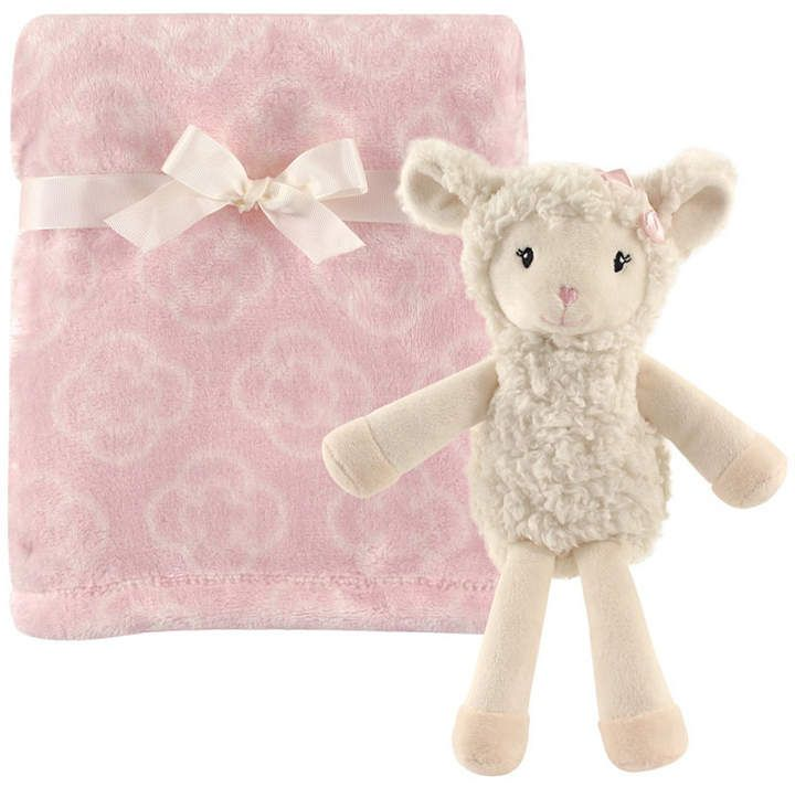 Baby Vision Hudson Baby Plush Blanket And Toy 2 Piece Set One Size Baby Lamb Baby Vision Security Blanket