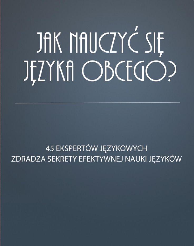 Sprachcaffe Polska zaptało 45 najbardziej wpływowych blogerów językowych: Jak nauczyć się języka obcego? Jesli chcesz poznać ich sekrety, rady i triki zapraszamy do lektury! Dowiedz się więcej o kursach językowych  Sprachcaffe -> http://www.sprachcaffe.com/polski/main.htm