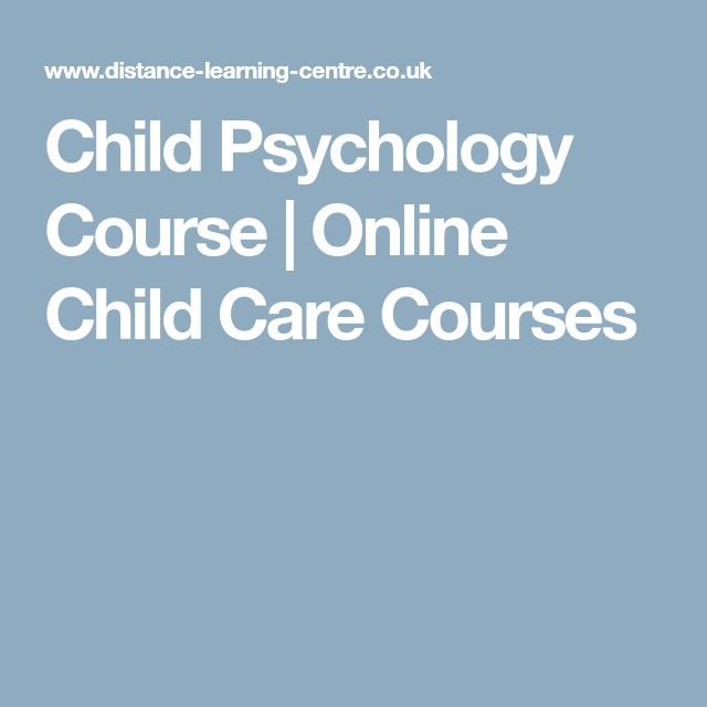 Child Psychology Course | Online Child Care Courses