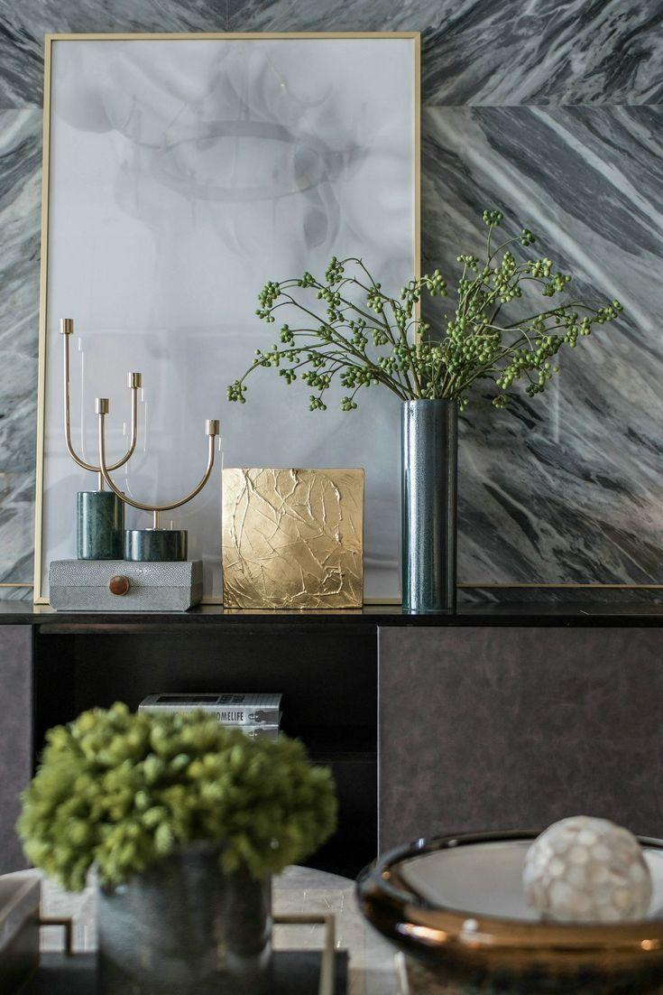 Wohnzimmer dekorieren Idee  Moderne Kerzenhalter