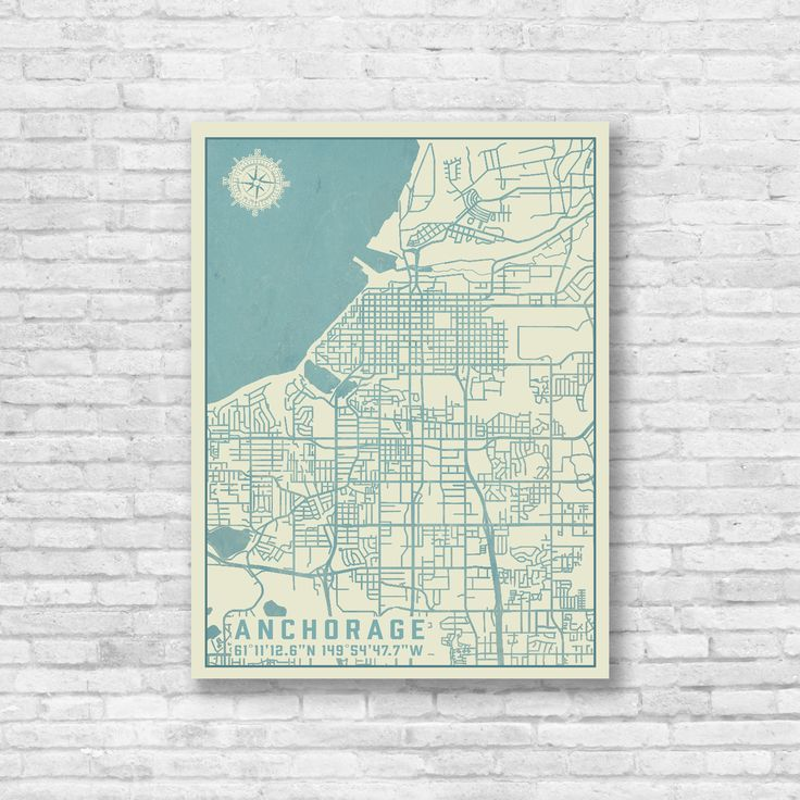 This Anchorage Alaska city map has been