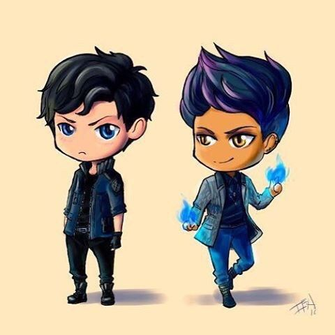#shadowhunters #malec #magnusbane #aleclightwood  Угрюмый котик и хитрый котик.