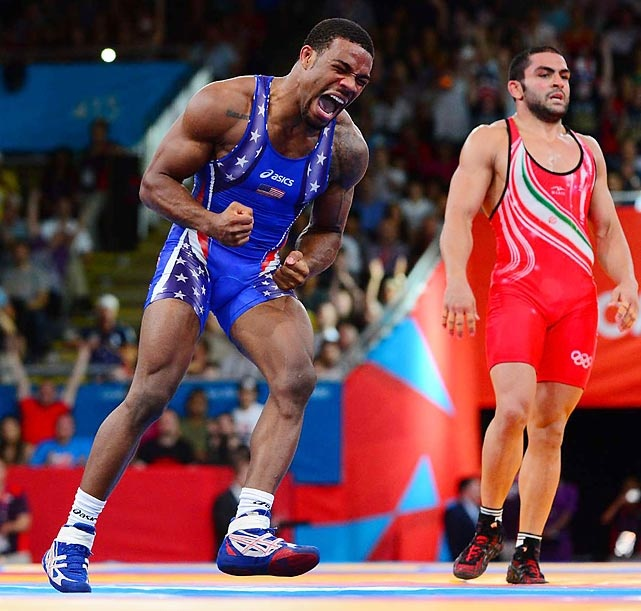 London 2012 Olympic Games: Jordan Burroughs beats Iranian in freestyle 74KG to win Gold: Real Wrestling, London2012, Olympic Wrestling, Jordans, Jordan'S, Usa Wrestling, Photo