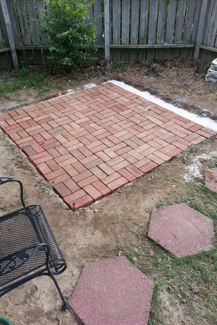 How to make Backyard Brick Patio | Backyard patio ...