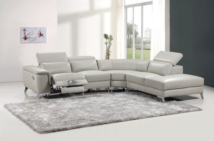 Fanni 9159 stylish corner lounges with electric recliner | Fortune Furniture