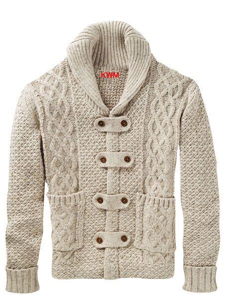 Mens hand knitted cardigan turtleneck sweater cardigan men