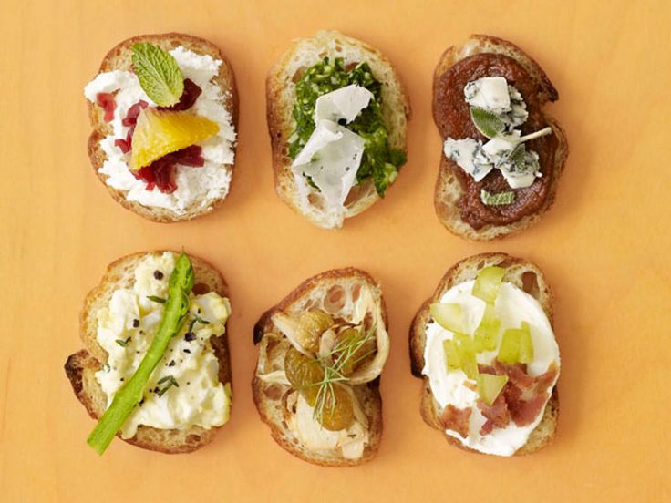 50 Toast Toppers : Pick up a loaf of French bread and get inspired by dozens of savory and sweet topping ideas. Try No. 24, with Taleggio cheese and candied nuts.