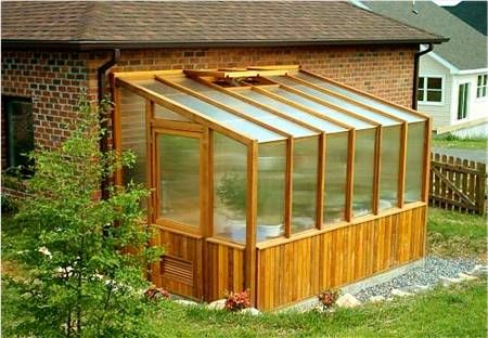 attache lean-to greenhouse to chicken house