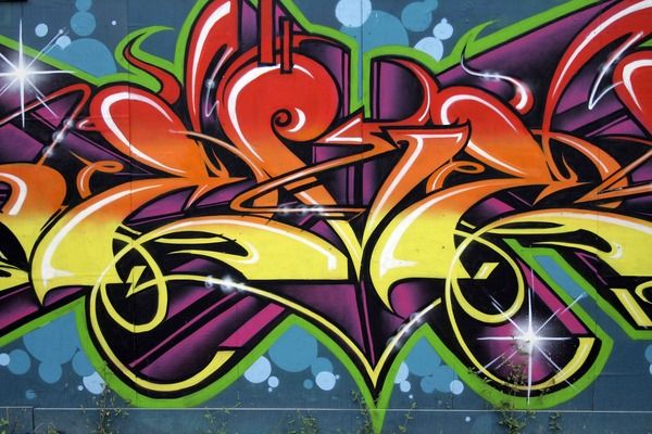 Graffiti Wallpaper Custom Wallpaper Mural Print by Jw