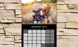 """Groupon - One or Two 11""""x8.5"""" Custom Photo Calendars from Photo Deals (Up to 72% Off) in [missing {{location}} value]. Groupon deal price: $9"""