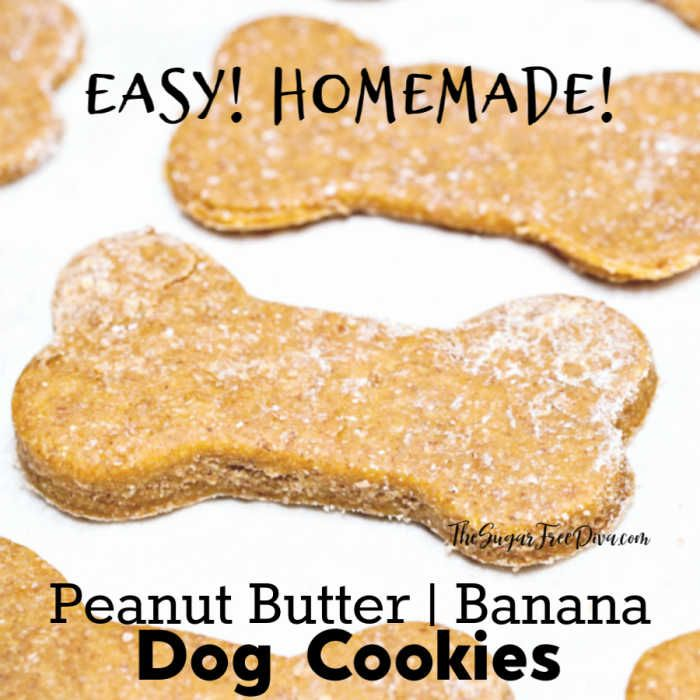 Peanut Butter And Banana Dog Biscuits Easy Dog Pets Homemade