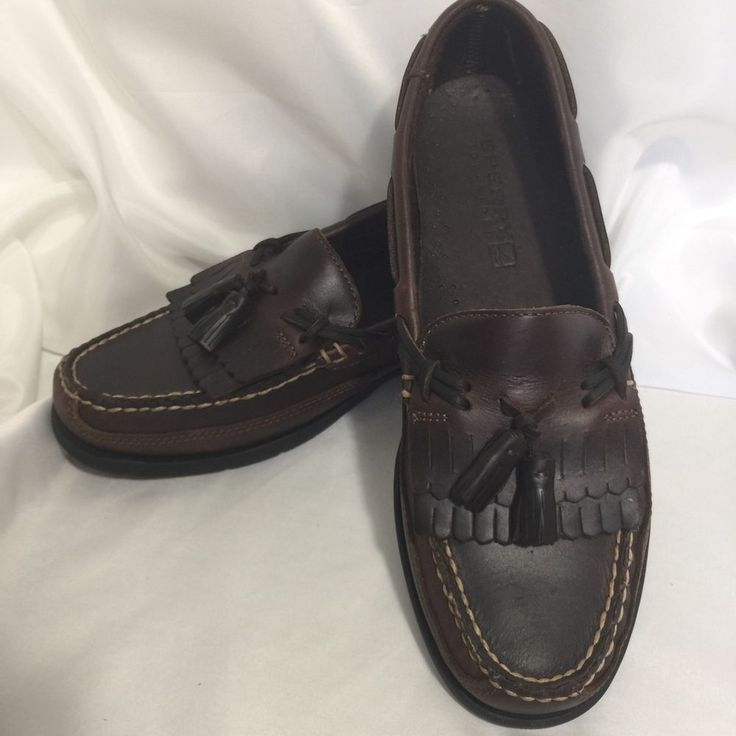 Sperry Top Sider Authentic Termont KT 0717157 Amaretto Tassel Shoes Mens 9 5  M