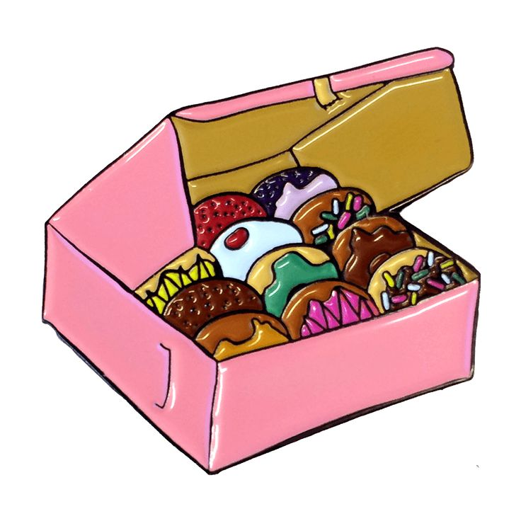 """This pinkbox can make any day better. Manna from heaven. -soft enamel pin -1.25""""…"""