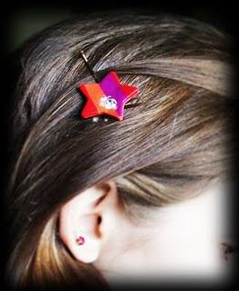 Marc Jacobs- Striped Star Hair Clip tutorial: Hair Clips, Stars Hair, Hair Sliding, Star Hair