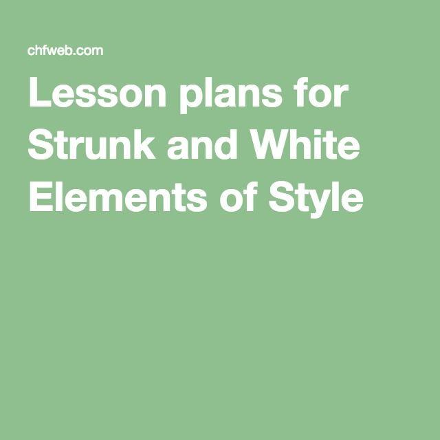 strunk white elements of style pdf